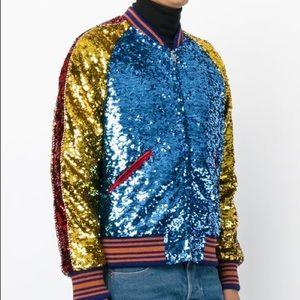 bb9c914ac Gucci Jackets & Coats | Mens Sequin Bomber Jacket | Poshmark